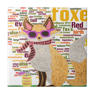What does the fox say ceramic tile