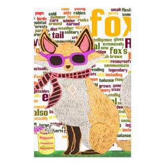 What does the fox say custom stationery