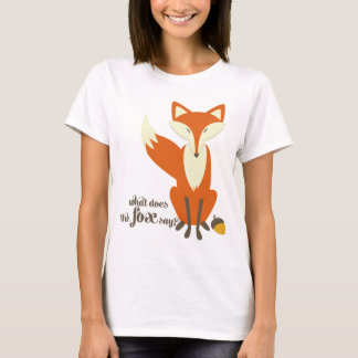What Does The Fox Say Illustration T Shirt