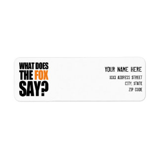 What Does The Fox Say Return Address Label