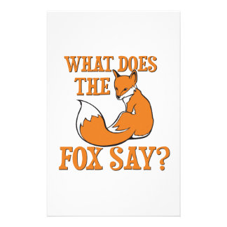 What Does The Fox Say? Stationery Design