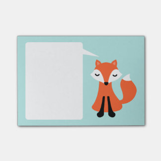 What does the fox say white speech bubble post-it® notes