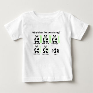 What does the panda say? baby T-Shirt