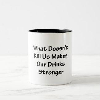 What Doesn't Kill Us Two-Tone Coffee Mug
