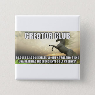 What exists is not a belief 2 inch square button