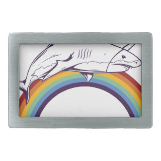 what, fish cool graphic design rectangular belt buckles