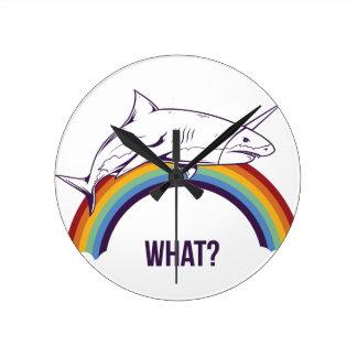 what, fish cool graphic design round clock