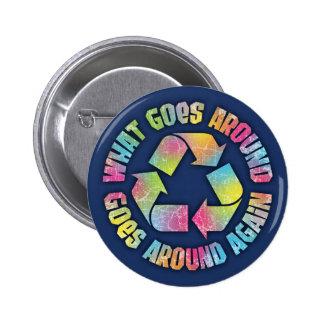 What Goes Around 2 Inch Round Button