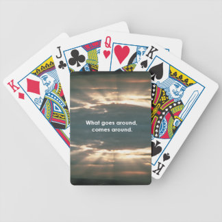 """""""What Goes Around Comes Around"""" Bicycle Playing Cards"""