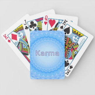 """What Goes Around...Soft Pastel Positive """"Karma"""" Bicycle Playing Cards"""