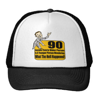 What Happened 90th Birthday Gifts Trucker Hat