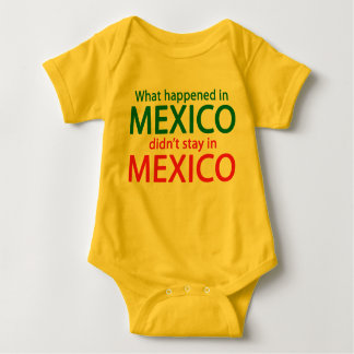 What Happened in Mexico Baby Bodysuit