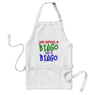 What happens at bingo stays at bingo standard apron