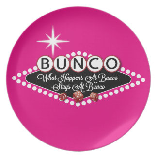 What Happens At Bunco Stays At Bunco Fun Plate