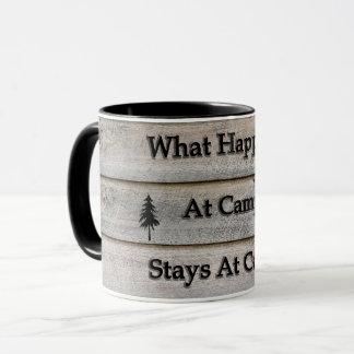 What happens at camp stays at camp mug
