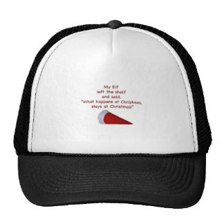 What happens at Christmas stays at Christmas Mesh Hat