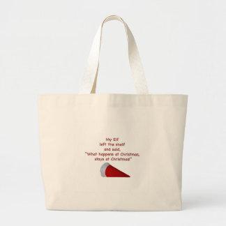 What happens at Christmas stays at Christmas Jumbo Tote Bag