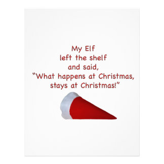 What happens at Christmas stays at Christmas Personalized Letterhead
