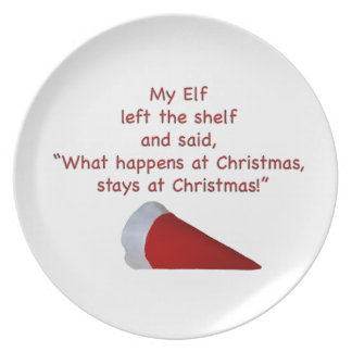 What happens at Christmas stays at Christmas Plates