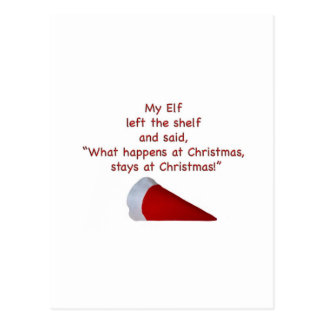What happens at Christmas stays at Christmas Postcard