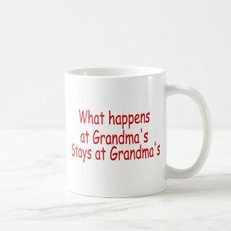 What Happens At Grandmas Stays At Grandmas Coffee Mug