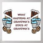 What Happens At Grandma's Stays At Grandma's Poster