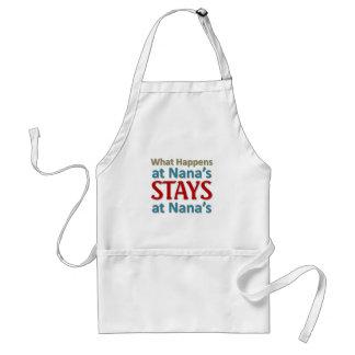 What happens at Nana's Aprons