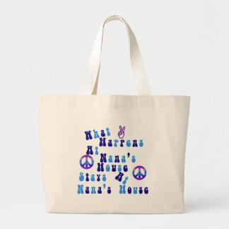 What happens At Nana's House Large Tote Bag