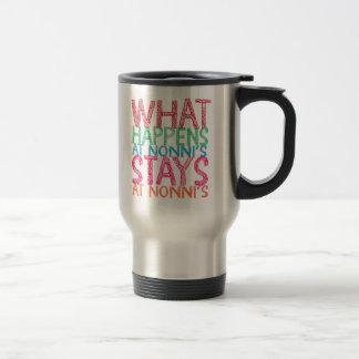 What happens at Nonni's stays at Nonni's Travel Mug