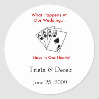 What Happens At Our Wedding...  Sticker