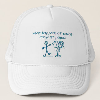 WHAT HAPPENS AT PAPAS STAYS AT PAPAS TRUCKER HAT