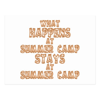 What Happens at Summer Camp Postcard