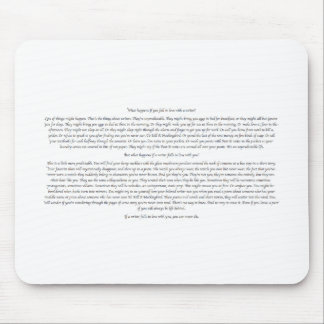 What Happens If You Fall in Love With a Writer? Mouse Pad