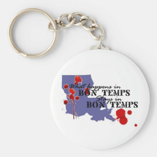 What Happens in Bon Temps Keychain