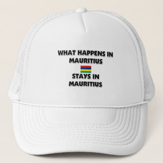 What Happens In MAURITIUS Stays There Trucker Hat