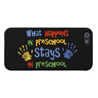 What Happens In Preschool Covers For iPhone 5