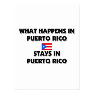 What Happens In PUERTO RICO Stays There Postcard