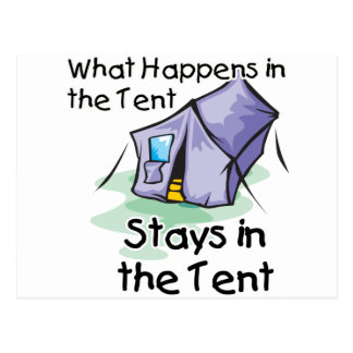 What Happens in the Tent Postcard