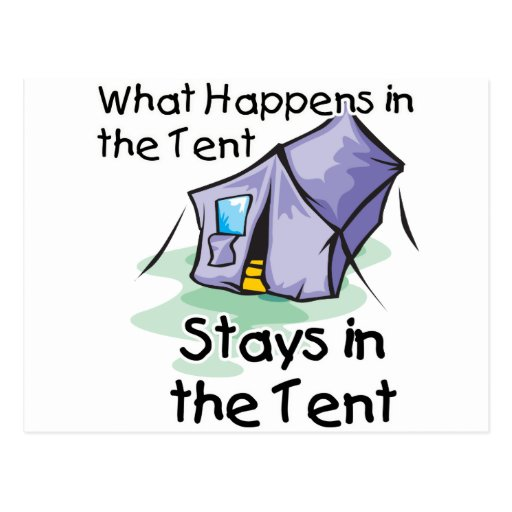 What Happens in the Tent Postcards