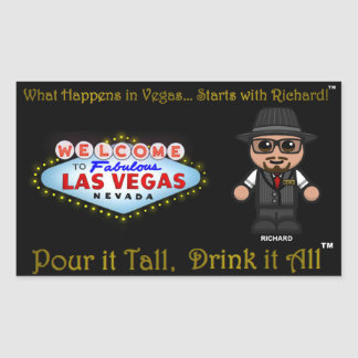 What Happens in Vegas...Starts with Richard!!! Sticker