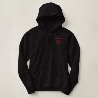 What happens in Vegas, Stays in Vegas! Embroidered Hoodie