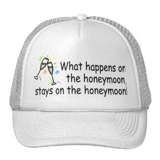 What Happens On The Honeymoon... Trucker Hat