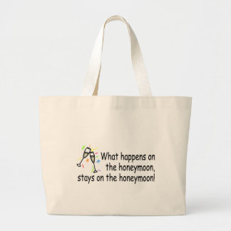 What Happens On The Honeymoon Large Tote Bag