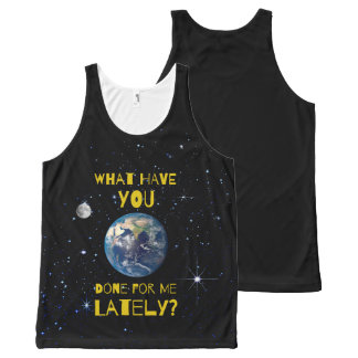 What Have You Done For Earth Lately All-Over-Print Tank Top