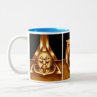 What if? Egyptian conqueror triptych. Two-Tone Coffee Mug