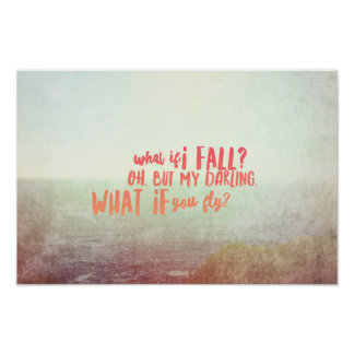 """What If I Fall (16.50"""" x 11.00""""), Value Poster"""