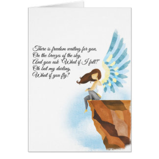 What if I fall? Greeting Card