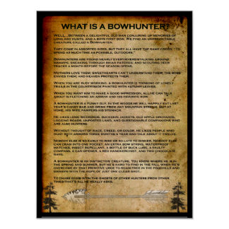 WHAT IS A BOWHUNTER POSTER