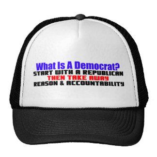 What Is A Democrat? Trucker Hat