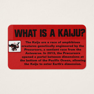 What is a Kaiju? Business Card